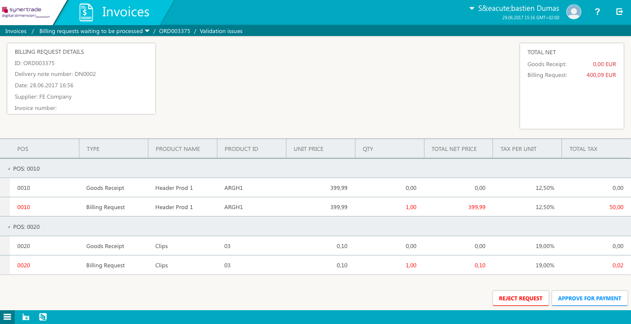 global procurement software for procure to pay solution software screenshot