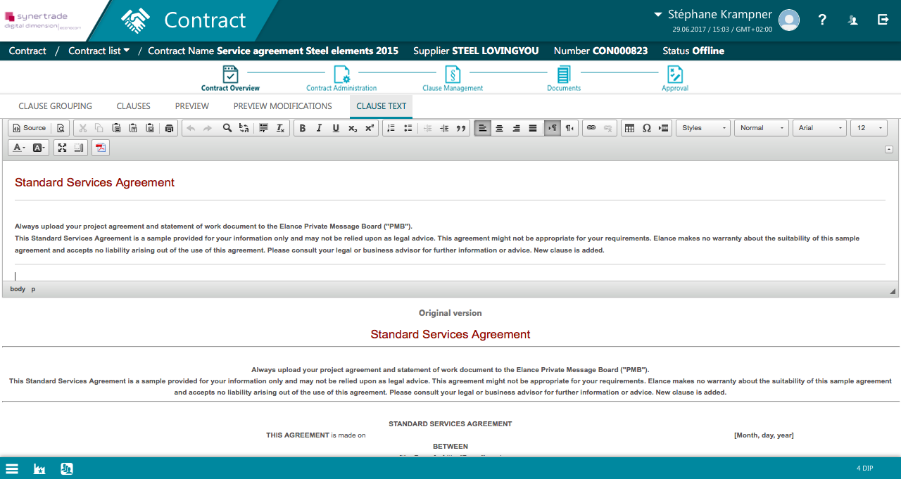 procurement contract management software