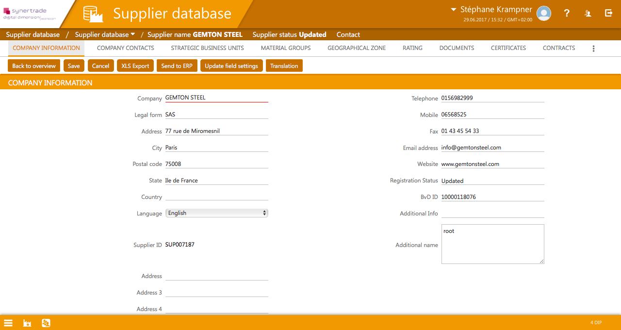 Supplier Database, SRM Software