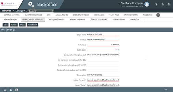 procurement platform integration