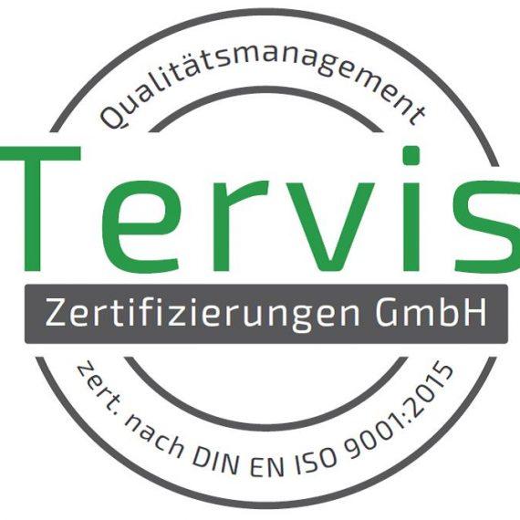 ISO-Zertifizierungszeichen Tervis Zertifizierungen GmbH