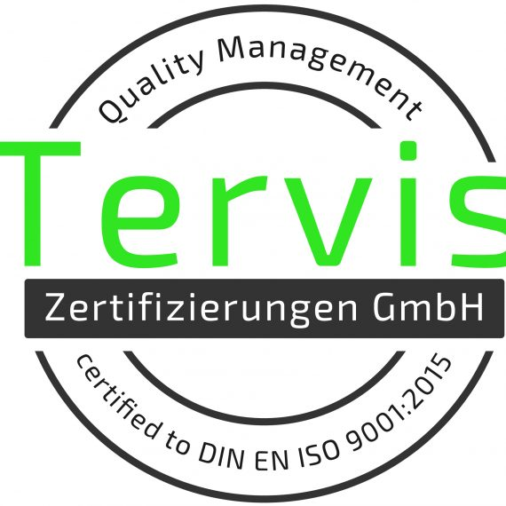 ISO certified quality management system icon