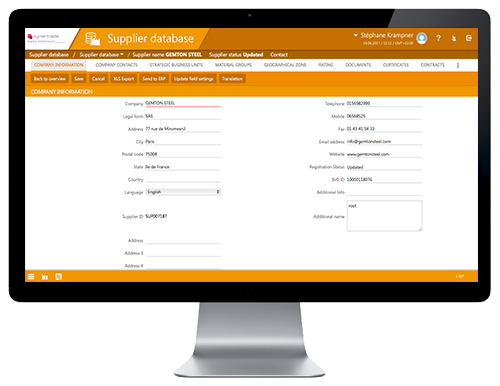 Source to Pay eProcurement Software, supplier management