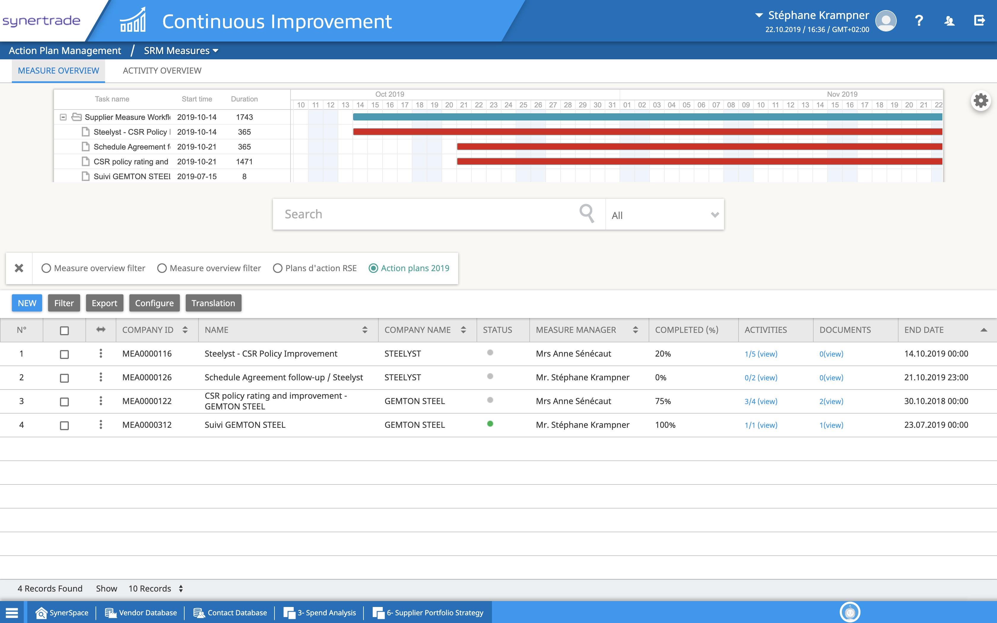 Supplier Management Software, Project Management