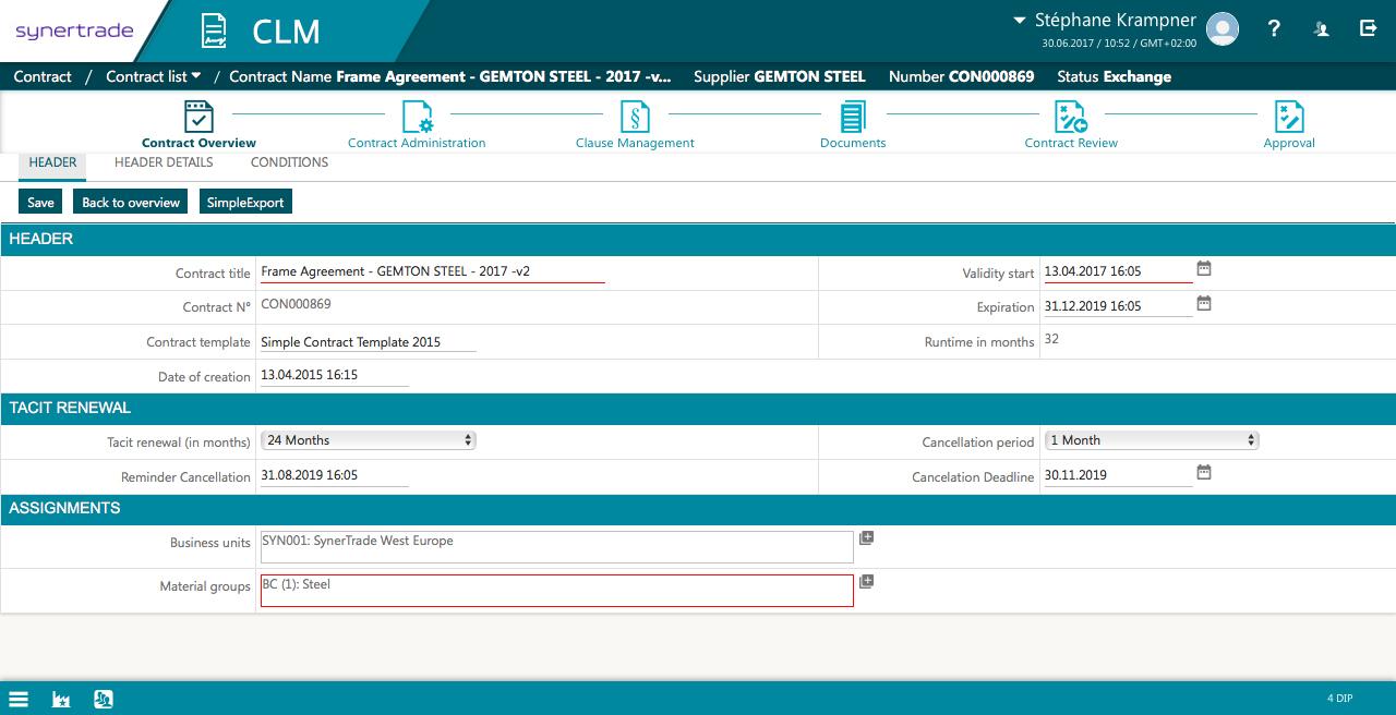procurement contract management software
